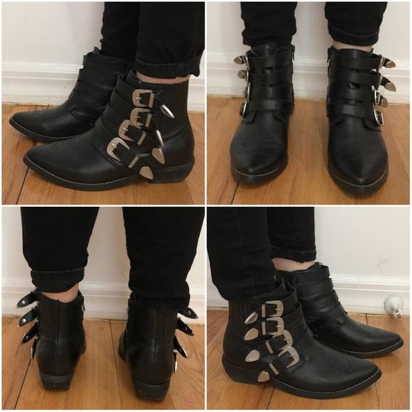 770b250de74 Kelsi Dagger Shoes - Kelsi Dagger Black Dallas Cowboy Buckle Boots